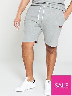 ellesse-plus-sizenbspnoli-fleece-shorts--nbsp-grey-marl