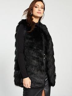 7f7e491240cf4 River Island Faux Fur Gilet - Black