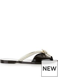 melissa-bow-detail-flip-flop-sandalsnbsp--black