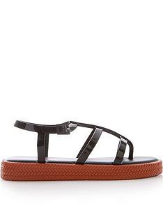 melissa-braided-sole-gladiator-sandalsnbsp--black