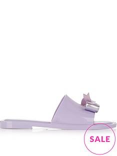 melissa-metallic-bow-flat-sliders-purple