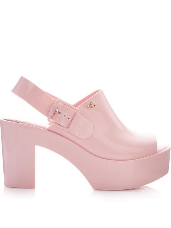 710c0b1de88 Vivienne Westwood For Melissa Heeled Slingback Mules - Pink