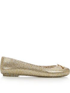 melissa-flat-ballet-pump-with-metallic-orb-gold