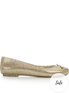 melissa-flat-ballet-pump-with-metallic-orb-gold