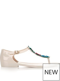 melissa-flower-embellished-toe-post-sandalsnbsp-nbspoff-white