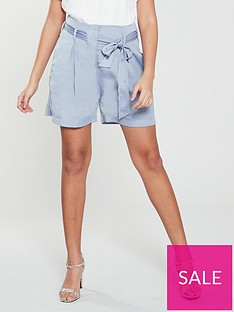 a3f7f2c904 NATIVE YOUTH Native Youth Frida Paperbag Waist Shorts W/ Pleats