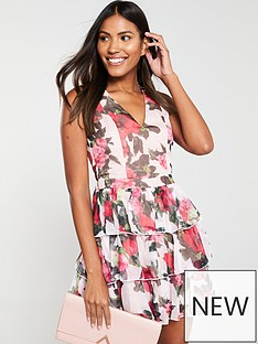 u-collection-forever-unique-floral-ruffle-v-neck-mini-dress-nude