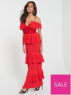 u-collection-forever-unique-layered-maxi-dress-red