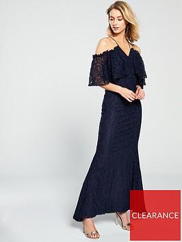 u-collection-forever-unique-cold-shoulder-maxi-dress-navy