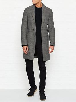 allsaints-denver-check-overcoat-grey