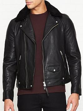 allsaints-brett-shearling-collarnbspleather-biker-jacket-black