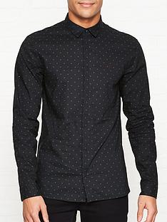 allsaints-parrish-polka-dot-shirt-black