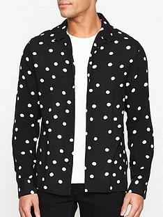 allsaints-pozere-polka-dot-shirt-black