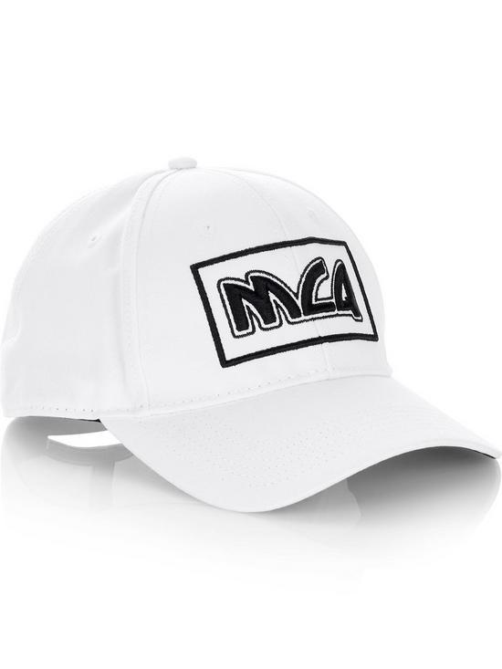 MCQ ALEXANDER MCQUEEN Men s Square Logo Baseball Cap - White  9d059ae14bf9