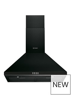 indesit-ihpc64lmk-60cm-chimney-cooker-hood-black