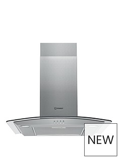 indesit-ihgc65lmx-60cm-curved-glass-cooker-hood-stainless-steel