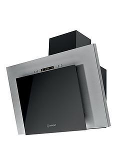 indesit-ihvp64llk-angled-60cm-wide-cooker-hood-black