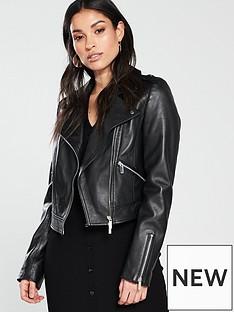 karen-millen-karen-millen-cropped-leather-biker-jacket