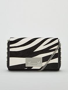 karen-millen-leather-cross-body-bag-zebra-print