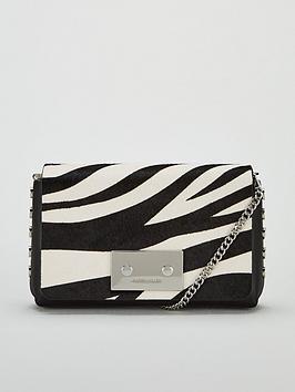 f8b52ae23f9 KAREN MILLEN Leather Cross Body Bag - Zebra Print | very.co.uk