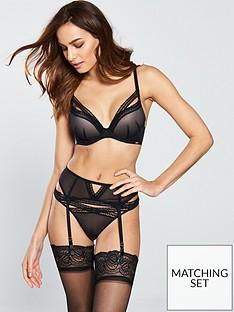 889d5f224 Gossard Sheer Seduction Suspender Belt - Black