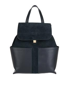 accessorize-kelly-leather-double-pocket-backpack-blacknbsp