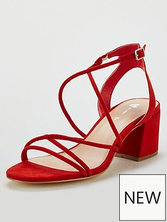 dc239fbed4cdb V by Very Gwen Strappy Heeled Sandal