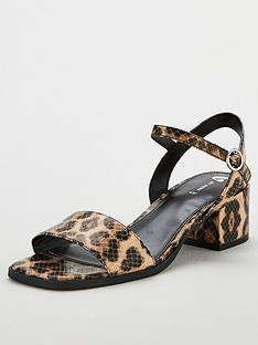 e2df48ad4d6 V by Very Gabrielle Ankle Strap Low Block Heeled Sandal