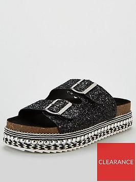 v-by-very-geonna-buckle-strap-flatform-sandals-black-glitter