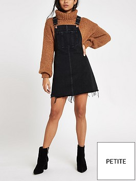 river-island-ri-petite-denim-dungaree-dress-black