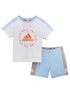 6a741583d954d1 adidas Baby Boy I Print Short   Tee Set