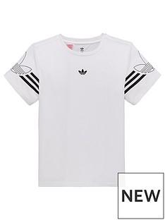 bed931de5c1402 adidas Originals Boys Outline T-Shirt - White