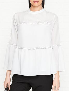 ps-paul-smith-frill-pleated-tunic-long-sleeve-top-white