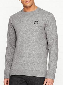 edwin-base-crew-sweatshirt-grey