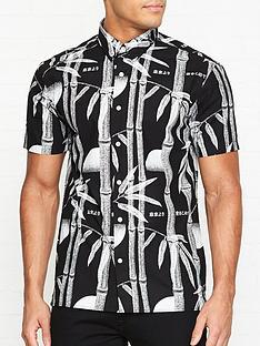 edwin-nimes-bamboo-print-short-sleeve-shirt-black
