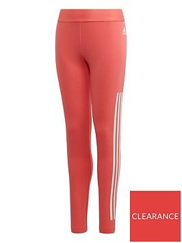 adidas-girls-3-stripe-leggings-pink