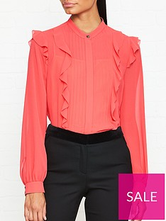 ps-paul-smith-coral-frill-long-sleeve-blouse-coral