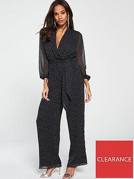 v-by-very-woven-spot-jumpsuit-monochrome