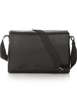 emporio-armani-mens-pebble-grain-leather-messenger-bag-black