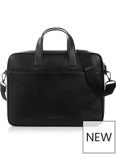 emporio-armani-mens-pebble-grain-leather-briefcase-black