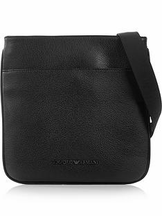 emporio-armani-mens-pebblenbspgrain-leather-cross-body-bag-black