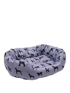 rosewood-dogs-print-grey-oval-bed-52cm