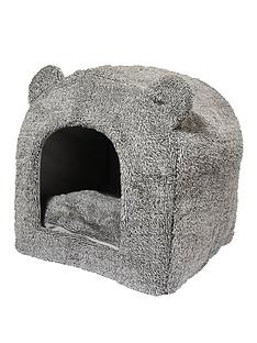 rosewood-grey-teddy-bear-cat-bed