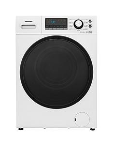 Hisense WFEH9014VA 9kg Load, 1400 Spin Auto Dose Washing Machine – White