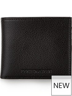 emporio-armani-mens-pebble-grain-leather-billfold-wallet-black