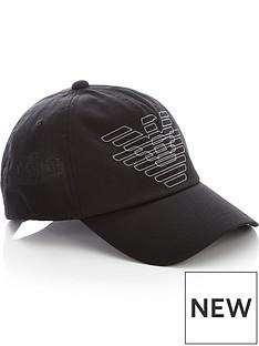 emporio-armani-mens-eagle-print-baseball-cap-black