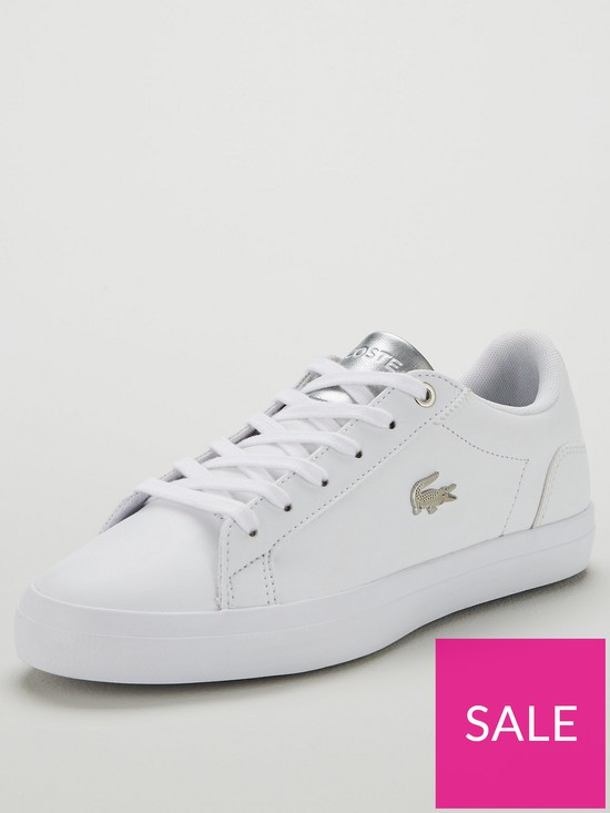 806df383ff Lacoste Lerond 119 1 Qsp Trainers - White/Silver | very.co.uk