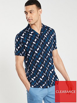 v-by-very-short-sleeved-geo-print-shirt-navywhiteblue