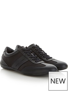 emporio-armani-mens-leathernbspand-mesh-trainers-black