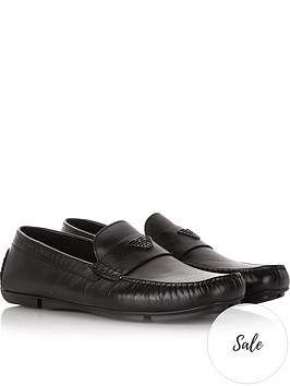 emporio-armani-mens-eaglenbsplogo-leather-loafers--nbspblack